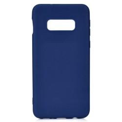 Cover per Samsung S10E G970 serie Soft-Touch Stileitaliano® morbida opaca BLU -