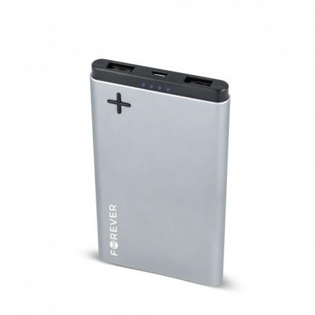 Power Bank 8000 mah DOPPIA USCITA USB 2A led ricarica batteria esterna PTB-04S grigio