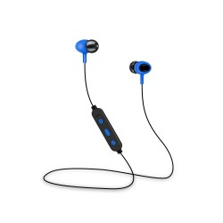 Cuffie Sport auricolari SENZA FILI Bluetooth con microfono e tasti volume Setty Blu
