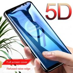 Pellicola 5D FULL Samsung Note 10 con foro sensore impronta Stileitaliano vetro Temperato Copre i bordi