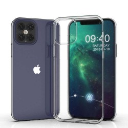 Cover Morbida per Apple iPhone 12 - 12 Pro 6,1 Serie ULTRASOFT Stileitaliano in silicone TPU sottile Trasparente