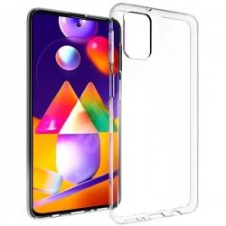Cover Morbida per Samsung M31s Serie ULTRASOFT Stileitaliano in silicone TPU sottile Trasparente