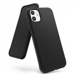 Cover per IPHONE XR serie Soft-Touch Stileitaliano® morbida opaca NERA -