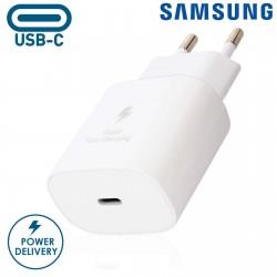 Caricabatteria da rete ORIGINALE Samsung Super Fast Charge 25w Uscita PD usb-c TYPE-C EP-TA800 senza cavo in confezione Nero