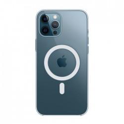 Cover Morbida per Apple iPhone 12 - 12 Pro 6,1 Serie Ultrasoft MAGSAFE Stileitaliano in silicone TPU sottile Trasparente