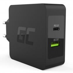 Alimentatore Universale USB Type C 30W PD Quick Charge 3.0 Greencell CHAR08