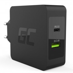 Alimentatore Universale USB Type C 45W PD Quick Charge 3.0 Greencell CHAR10
