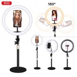 Supporto lampada stand con Led anello circolare luminoso per video selfie tiktok instagram 10 pollici L03