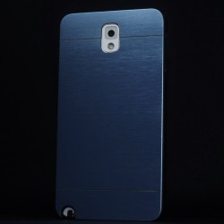 Cover custodia NOTE 4 N910F  ALLUMINIO Stileitaliano® BLU
