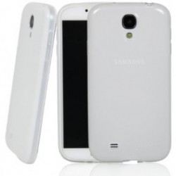 Cover morbida per S4 I9500 SAMSUNG ULTRASOFT2 Stileitaliano®  spessore maggiorato 1,2mm in TPU BIANCA -